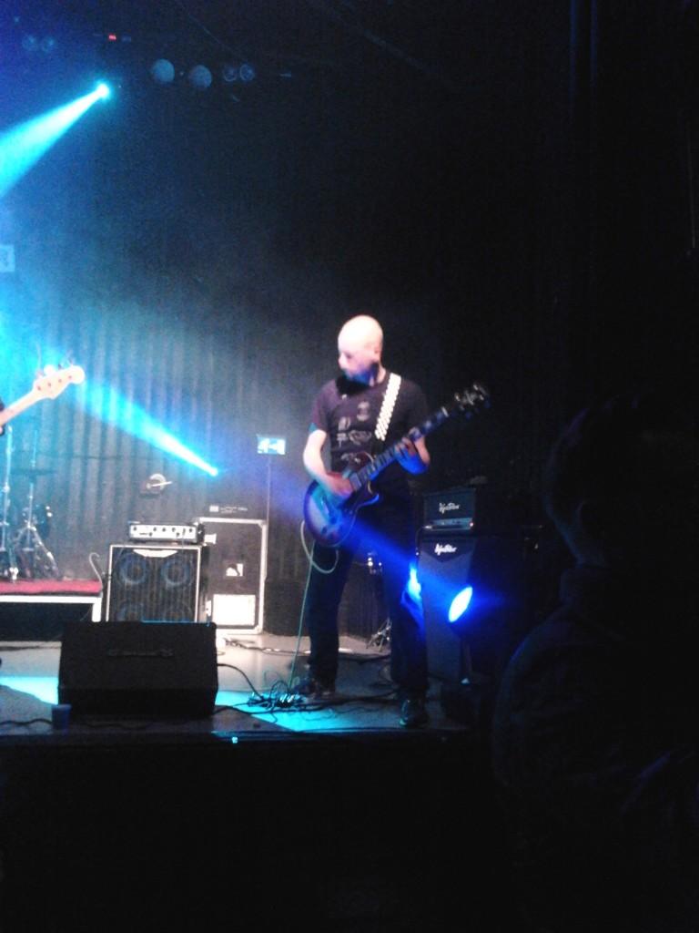Magnus Nilsson on guitar with Freak in Södertälje September 29, 2012 (Photo: Leo Hultén)